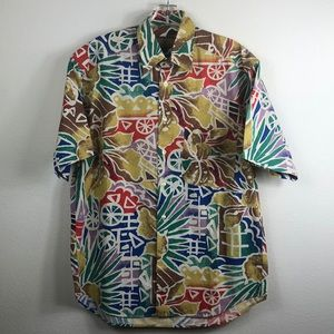 Fendi Abstract Rainbow Floral Print Shirt 38